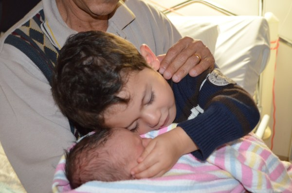 My favourite photo. Levi hugging baby brother.
